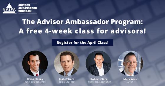 Advisor Ambassador April LinkedIn